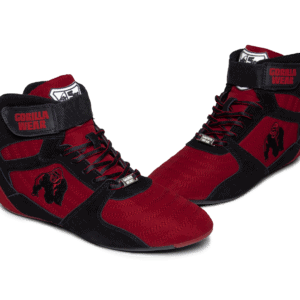 Details about Gorilla Wear High Tops Bodybuilding Shoes Black Red