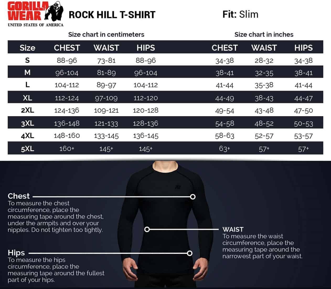 Black//Dark Gray Bodybuilding Fitness M Gorilla Wear Texas T-Shirt 4XL